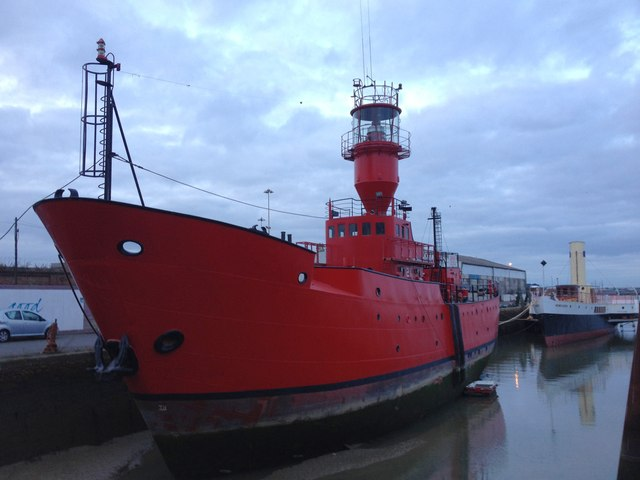 Lightship at Gillingham Pier