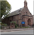 SO5012 : Old fountain and much older church, Overmonnow, Monmouth by Jaggery
