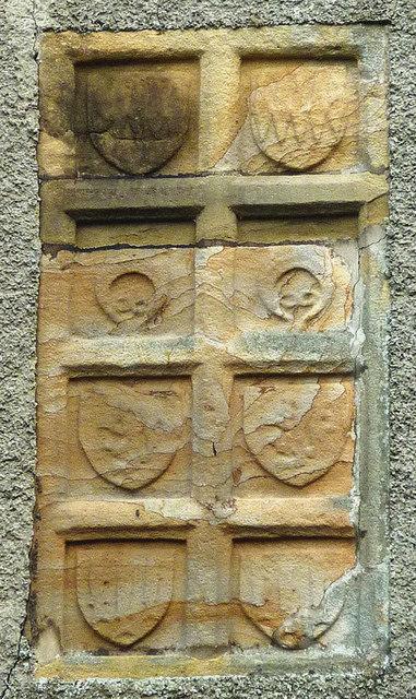 Carved panels, Mill Bridge Cottage, Gisburne Park