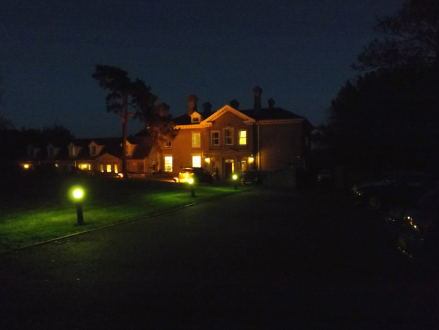 Highfield Residential Home at night