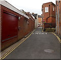 SK4003 : No entry for vehicles ahead, Back Lane, Market Bosworth by Jaggery