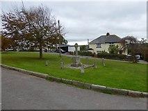 SS6907 : Village green and war memorial, Coldridge by David Smith