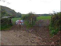 SS6908 : Gates near Park Mill by David Smith
