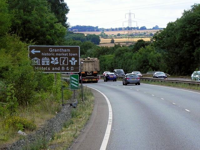 Northbound A1 near Grantham