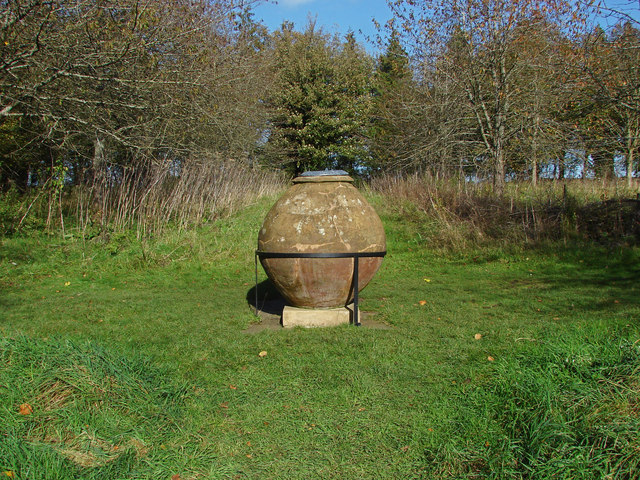 Urn in the orchard