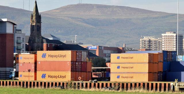 Containers, Belfast harbour (October 2014)