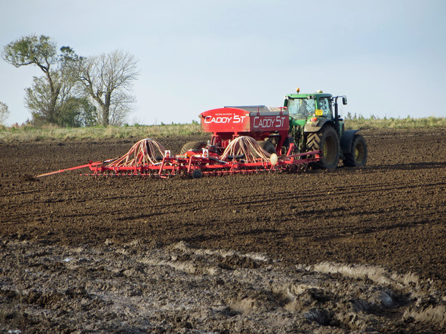 Seed Drilling near Worlaby
