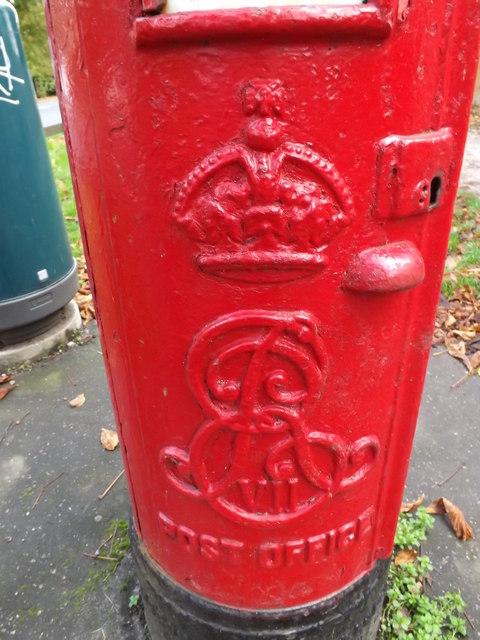 Royal Cypher on Newmarket Road/Eaton Road Edward VII Postbox