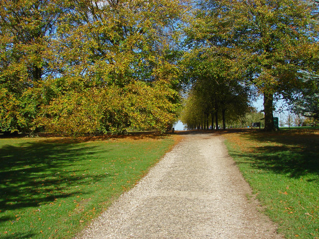 The driveway, Polesden Lacey