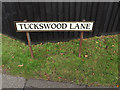 TG2206 : Tuckswood Lane sign by Adrian Cable