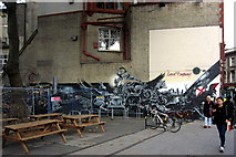TQ3282 : Graffiti by Old Street station by Philip Jeffrey
