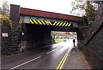 SS8591 : West side of Castle Street railway bridge, Maesteg by Jaggery