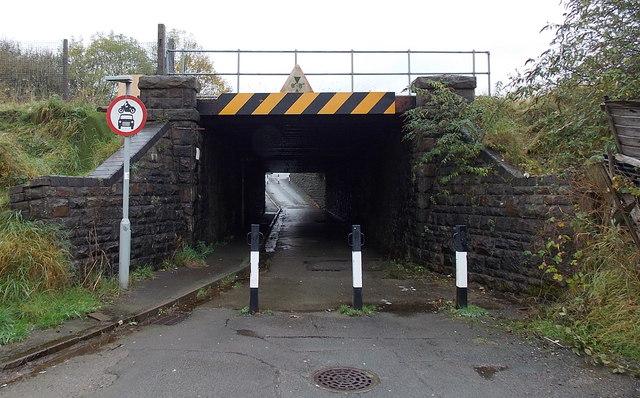 Low railway bridge in Maesteg