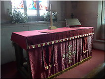 SU0460 : St Andrew, Etchilhampton: altar by Basher Eyre