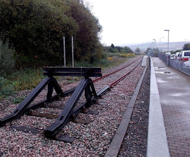 NW end of the Maesteg Line in Maesteg
