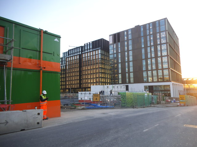 New offices on Goods Way, Kings Cross