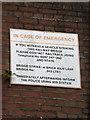 TM2199 : Bridge sign on Brick Kiln Lane by Adrian Cable