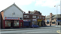 SK5319 : Shops on Sparrow Hill by Thomas Nugent
