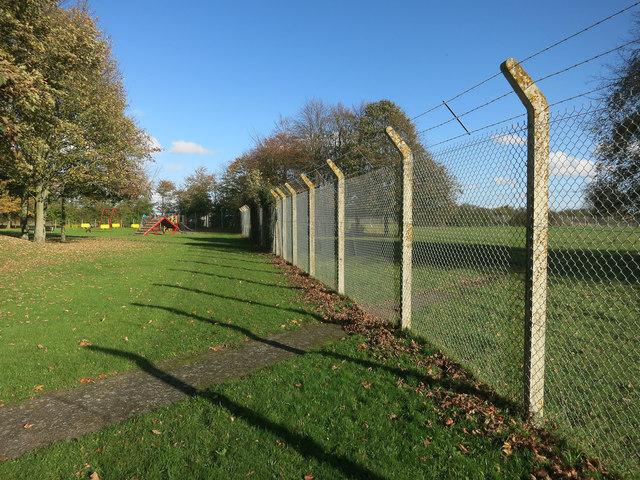 Fence around Rampton Drift