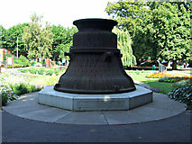 SK5319 : Bell mould in Queens Park by Thomas Nugent