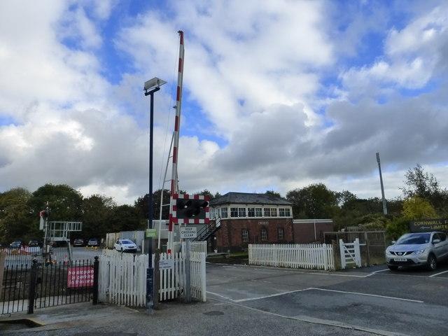 Truro signal box and level crossing