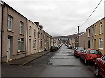 SS8591 : North along Meadow Street, Maesteg by Jaggery
