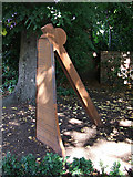 SK5319 : Bell and clapper sculpture in Queens Park by Thomas Nugent