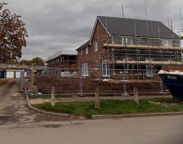 House construction in Bowen Gardens, Monmouth