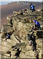 SK2483 : Sunday afternoon rock climbers by Neil Theasby