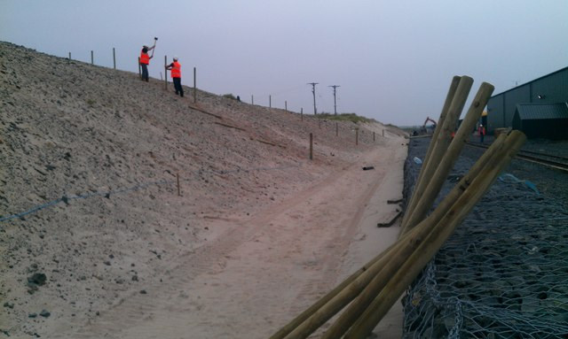 Prep work for Dune stabilisation project