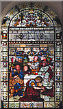TQ3379 : St Mary Magdalen, Bermondsey - Stained glass window by John Salmon