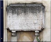 TQ3379 : St Mary Magdalen, Bermondsey - Wall monument by John Salmon
