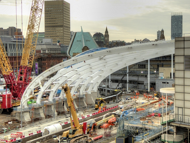 New Roof Construction, Manchester Victoria Station October 2014