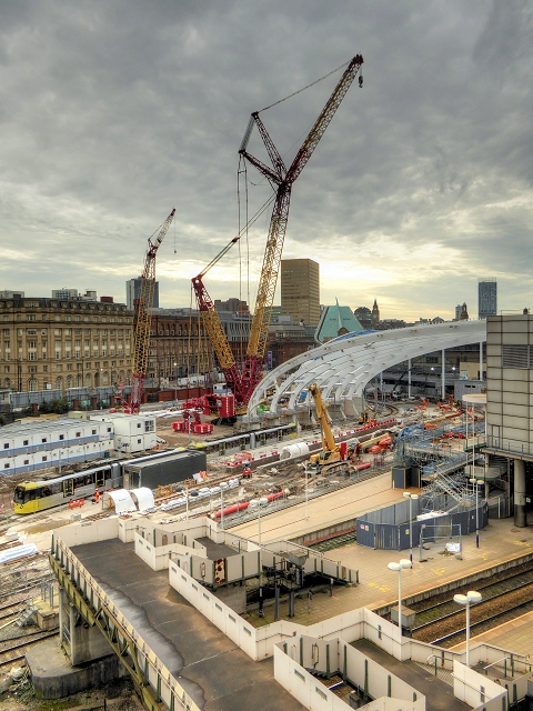 Manchester Victoria - Construction Site October 2014
