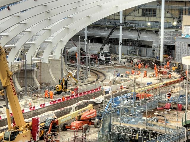 Manchester Victoria Station Redevelopment Work, October 2014
