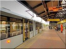 SJ8297 : Airport Tram at Cornbrook by David Dixon