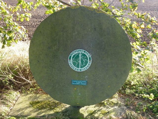 Longitude Zero meridian monument near Frampton, Lincolnshire