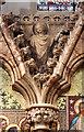 TQ2993 : Christ Church, Southgate - Reredos detail by John Salmon