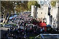 TQ3380 : People viewing the poppies at the Tower of London by Philip Halling