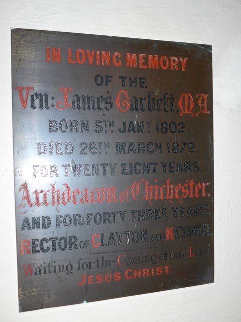 St John the Baptist, Clayton: memorial to an Archdeacon by Basher Eyre