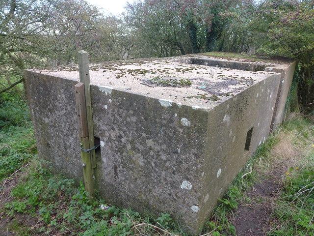 Pillbox on an old sea bank at Wyberton Marsh ; photo 3 of 3