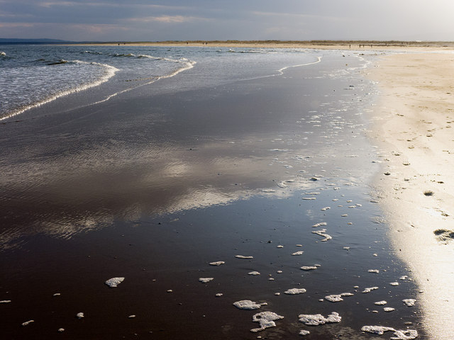 Wet sand on an advancing tide, Dornoch
