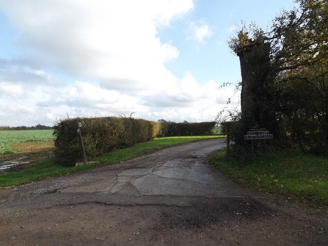 Entrance to Hill Farm, Heveningham