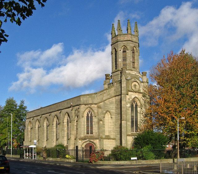 Bilston - St Mary's CofE Church on Oxford Street - from SE