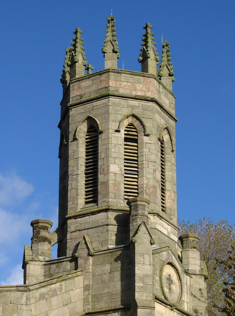 Bilston - St Mary's CofE Church on Oxford Street - tower