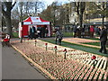 NT2573 : poppyscotland tent in Princes Street Gardens by M J Richardson