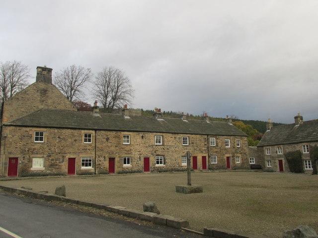 Blanchland village square.
