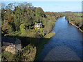 NY4654 : River Eden seen from Corby Bridge by Oliver Dixon