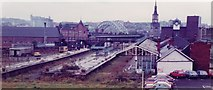NZ2564 : Manors (North) railway station (site), Tyne & Wear, 1982 by Nigel Thompson