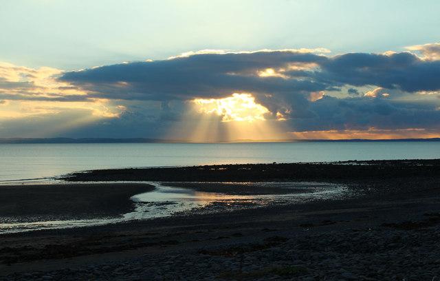 Sunset over Luce Bay